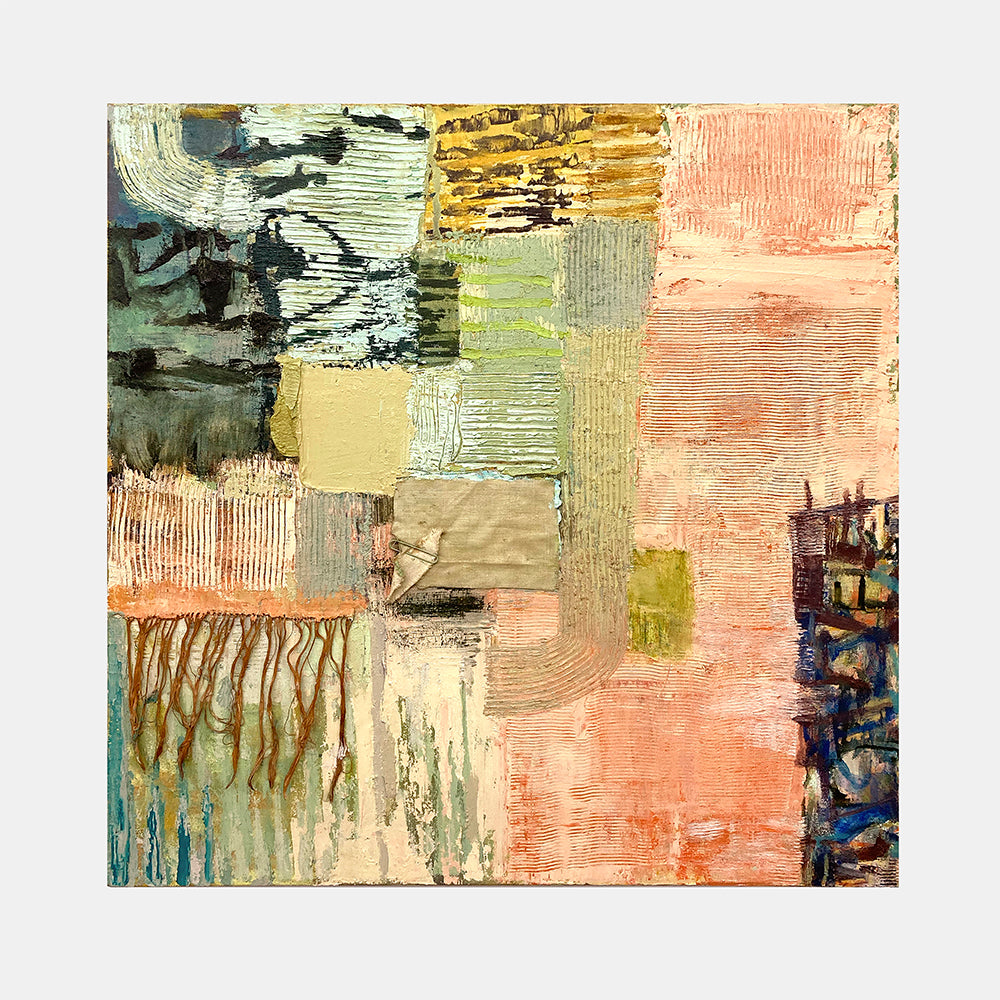 An original Abstract Expressionist oil painting Daymemo by Molly Herman based in New York