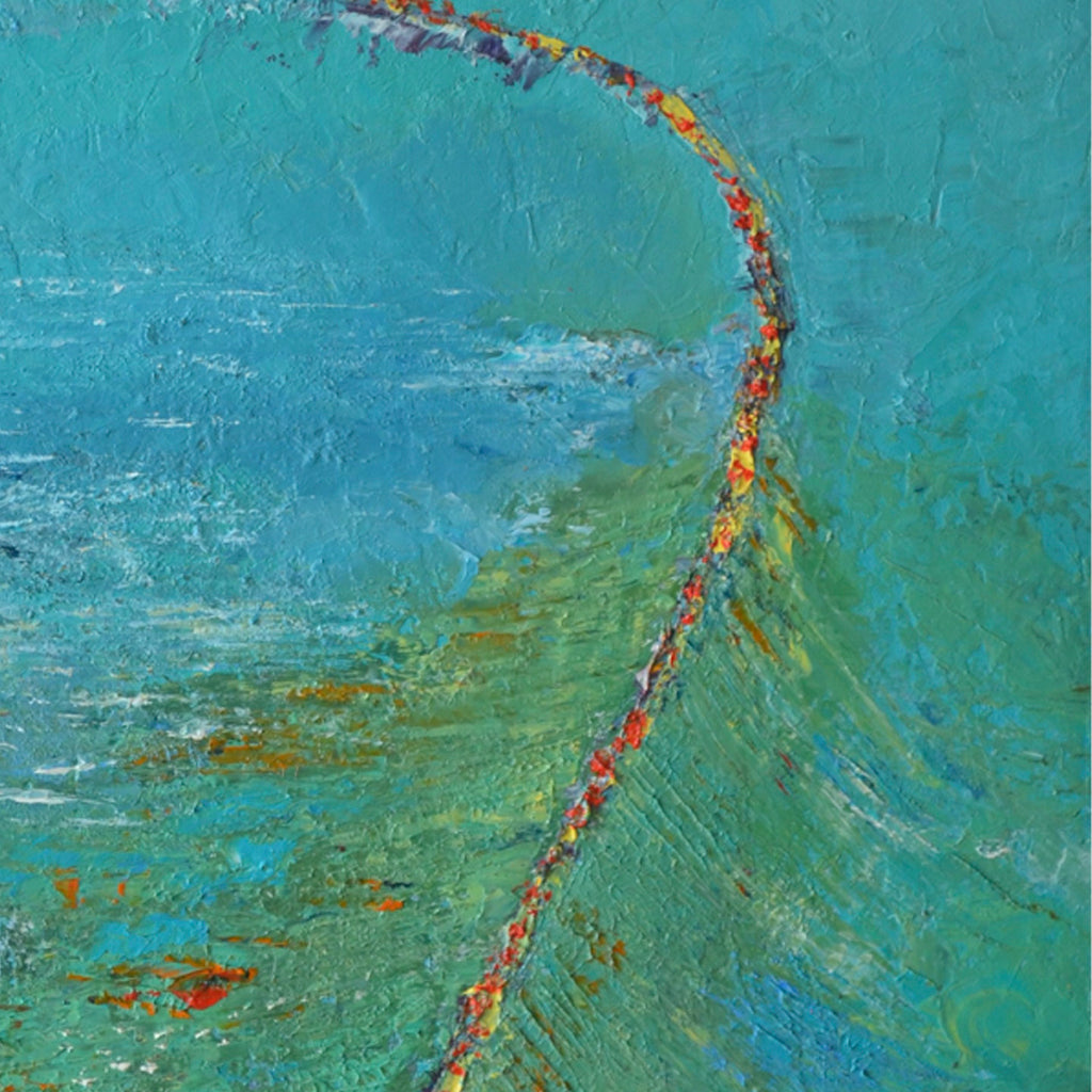 An original oil painting by Rita BasuMallick an artist who has exhibited in New York, titled The Topaz