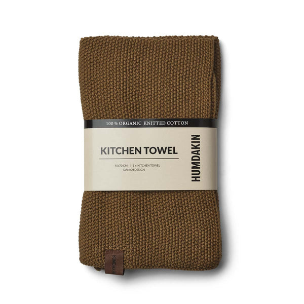 HUMDAKIN Knitted kitchen towel Organic textiles 038 Sunset