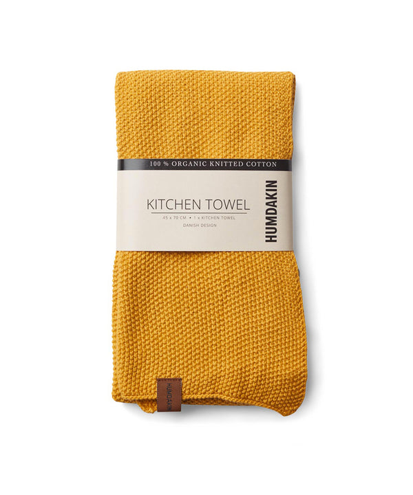 Knitted kitchen towel - Yellow Fall - humdakin.dk