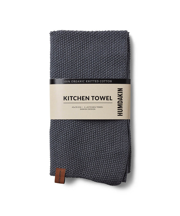 Knitted kitchen towel - Dark Ash - humdakin.dk