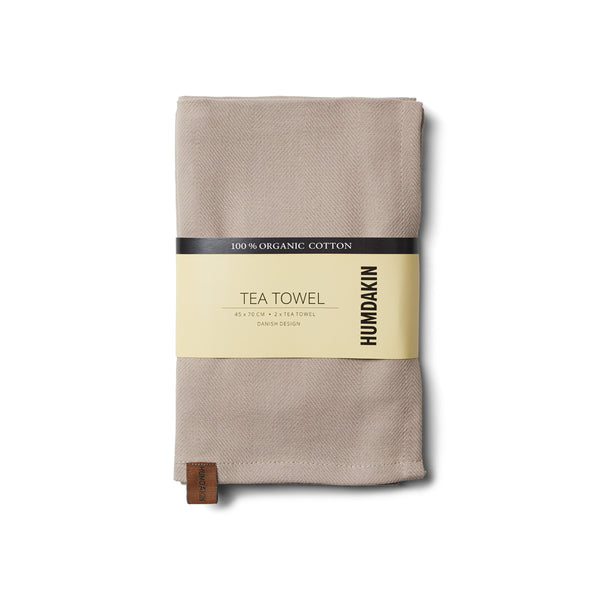 HUMDAKIN Organic tea towel - 2 pack Organic textiles 01 Light Stone