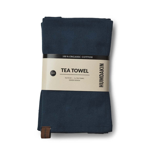 Organic tea towel - 2 pack - Sea blue - humdakin.dk