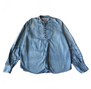 Kapital Shell Necklace Denim Shirt