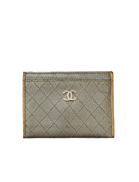 Chanel Quilted Metallic Cardholder