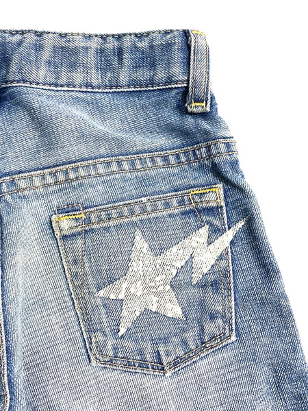 A Bathing Ape Camo Back-Pocket Bape Star Denim