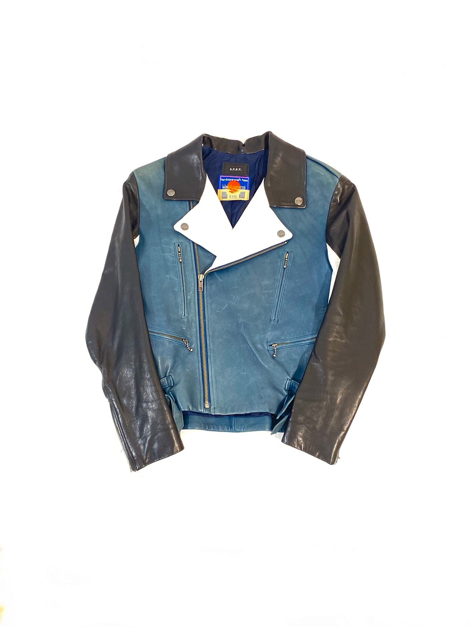 Women's Blackmeans x GVGV Leather Biker Jacket