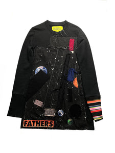 Raf Simons × Sterling Ruby AW14 Patchwork College Sweater