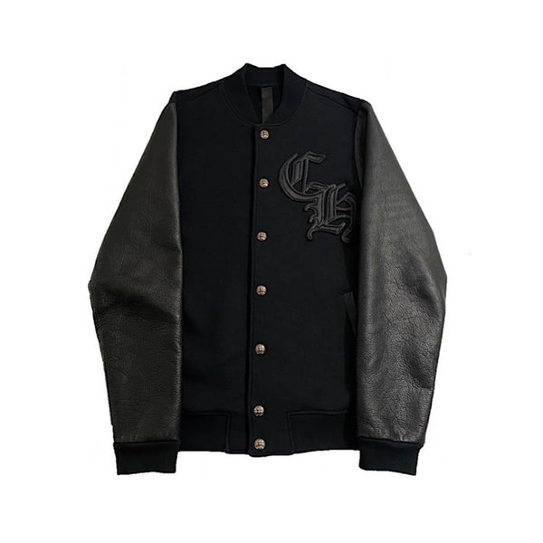 Chrome Hearts Black Letterman Varsity Jacket