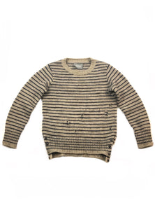 Takahiromiyashita The Soloist. Distressed Grunge Knit Sweater- Size S