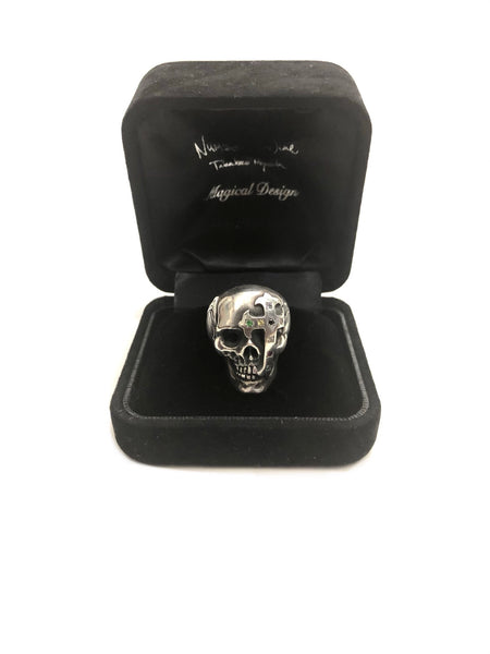 NUMBER (N)INE AW05 MAGICAL DESIGN SKULL GEM CROSS RING