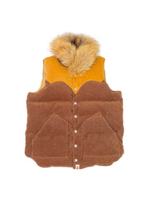 A Bathing Ape Classics Corduroy Fur Collar Down Vest