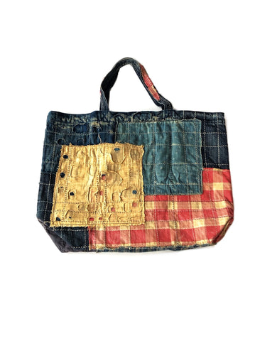 Kapital Kountry Boro Patchwork Large Tote Bag
