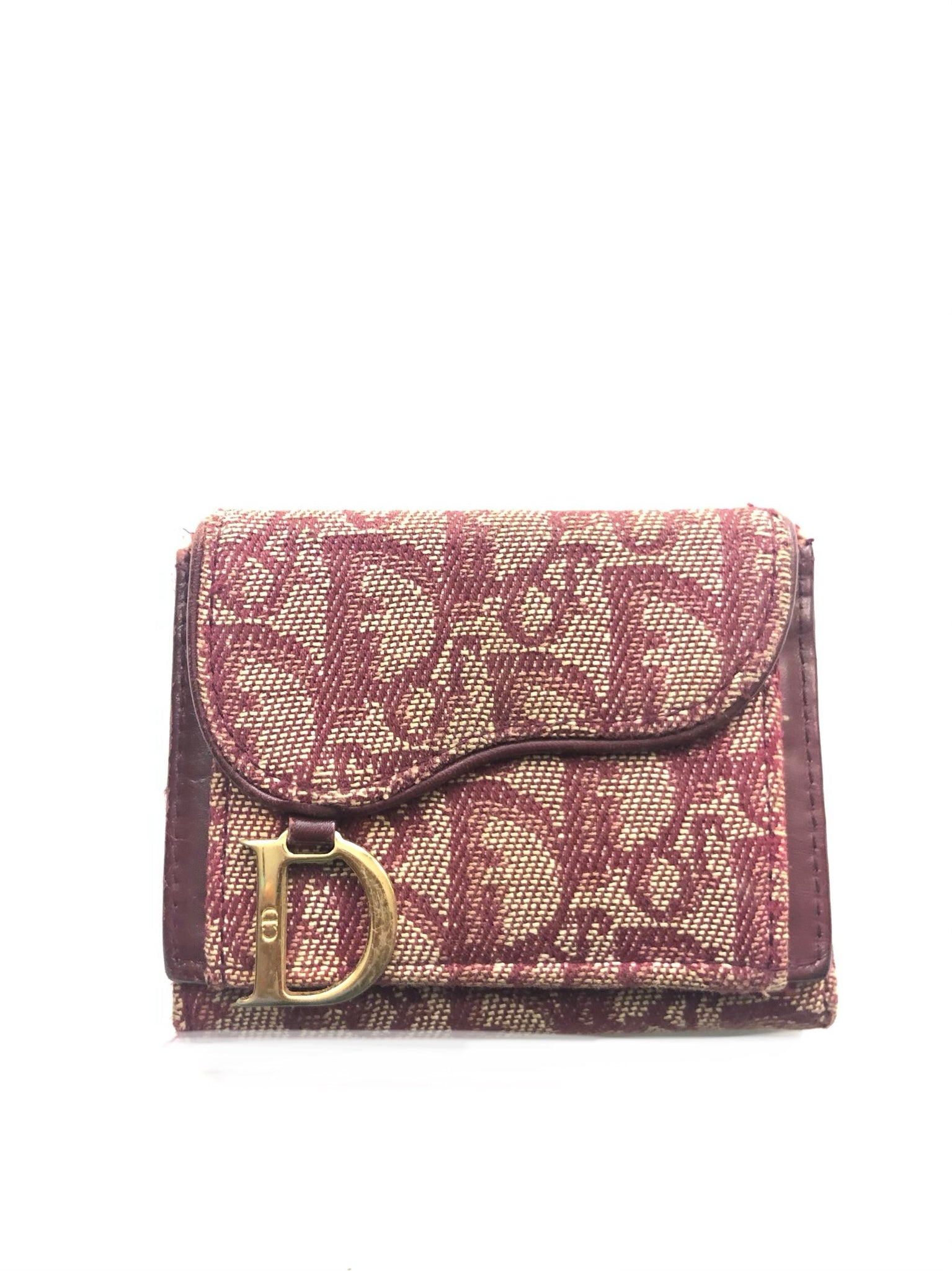 Dior Multifold Wallet Red- OS
