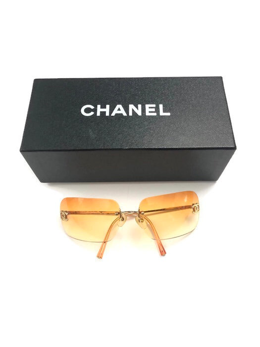 CHANEL SUNGLASSES YELLOW TINT-OS