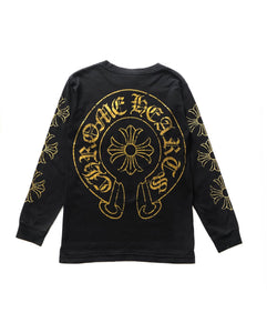Chrome Hearts Gold Horseshoe Cross L/S
