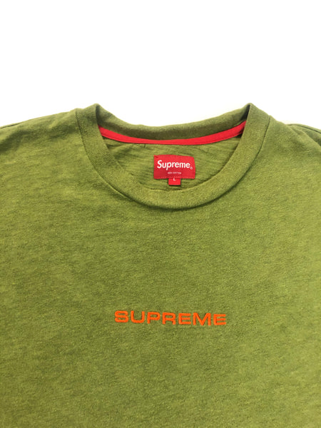 Supreme Olive Embroidered Long Sleeve