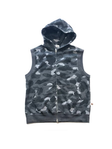 A Bathing Ape Black Camouflage Sleeveless Hoodie