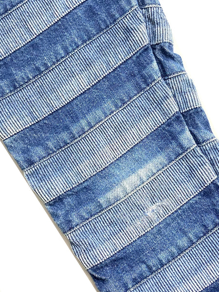 Hysteric Glamour Stitch-Stacked Denim