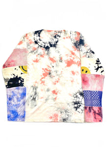 Kapital Tie Dye Patchwork Smiley L/S