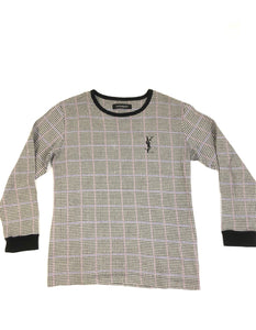 Women's YVes Saint Laurent houndstooth LongSleeve