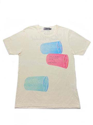 Andy Warhol x Hysteric Glamour Rolling Cans '1966: The Year The Velvet Underground Went Pop by Andy Warhol' T-Shirt