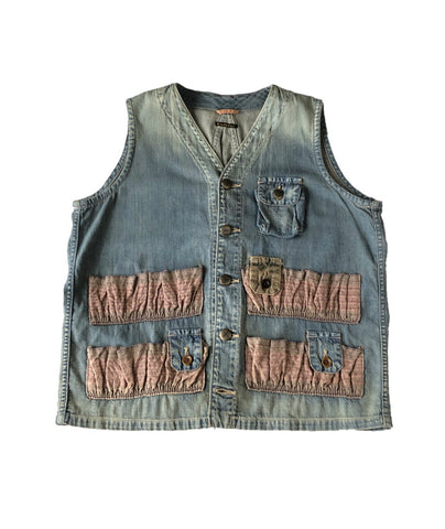 Kapital Ring Denim Hunting Vest