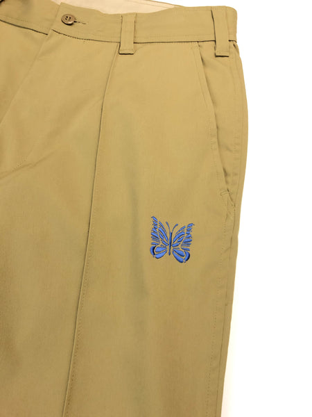 Needles Butterfly Embroidered Khaki Pants- Size M