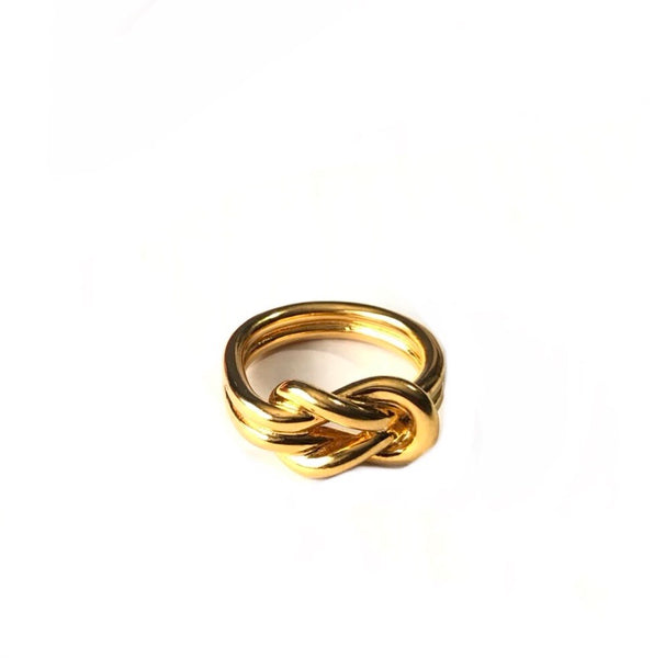 Hermès Gold Scarf Ring