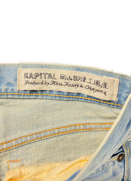 Kapital 14oz Denim 5P Stone One Wash- Size 30