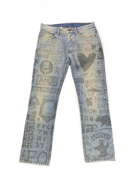 "Ksubi ""$ Day"" Graffiti Denim- Size 31"