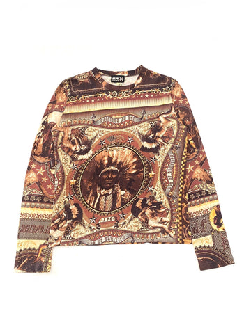 Jean Paul Gaultier SS94 Native American Sheriff Long Sleeve Shirt