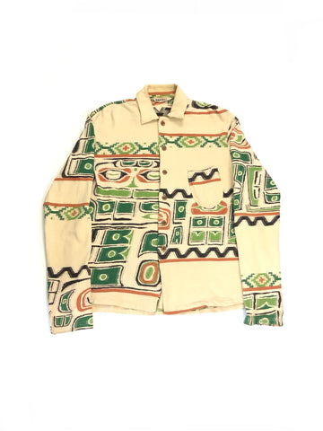 KAPITAL NATIVE PRINT WOVEN SHIRT- SIZE 3