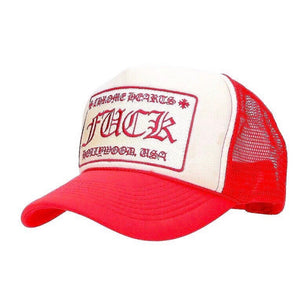 Chrome Hearts 'Fuck' Red Trucker Hat