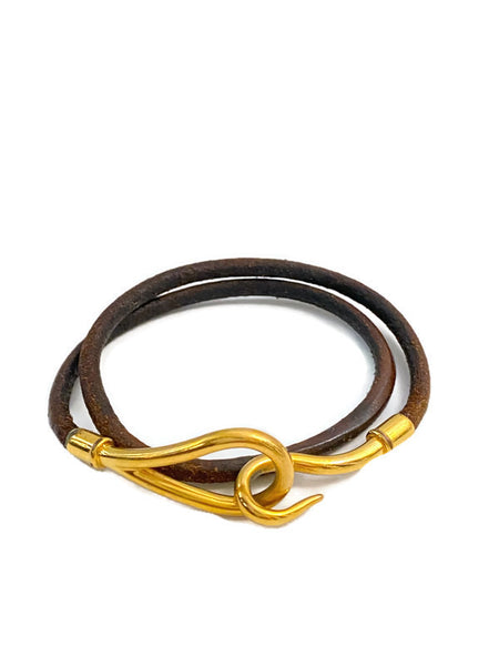 Hermes Double Tour Leather HookBracelet