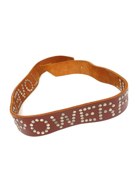 Comme Des Garçons 02ss 'Love Is Powerful' Studded Leather Belt