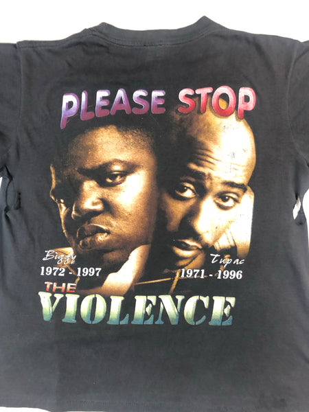Vintage Distressed 2Pac & Biggie Tee- Size Large