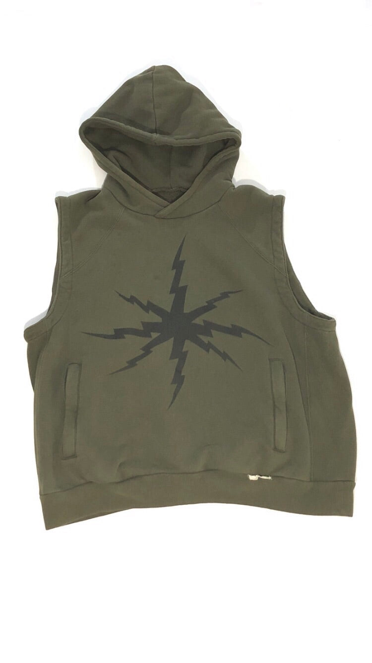 Undercover Ss01 Chaotic Discord SleeveLess Hoodie