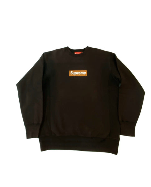 Supreme 03' Gold On Brown Box Logo Crew Neck  Size Large