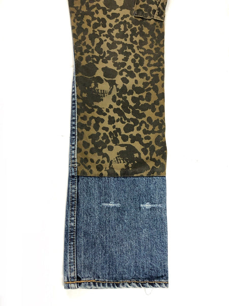 Hysteric Glamour Unisex Hybrid Cheetah Skull/Embroidered Denim