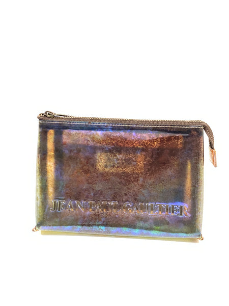 Jean Paul Gaultier Fall/Winter 95' Translucent Cyber Print Toiletry Bag