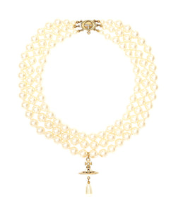 Vivienne Westwood Three Row Pearl Choker Necklace