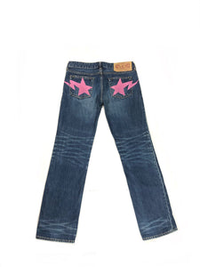 A Bathing Ape Pink Star Denim