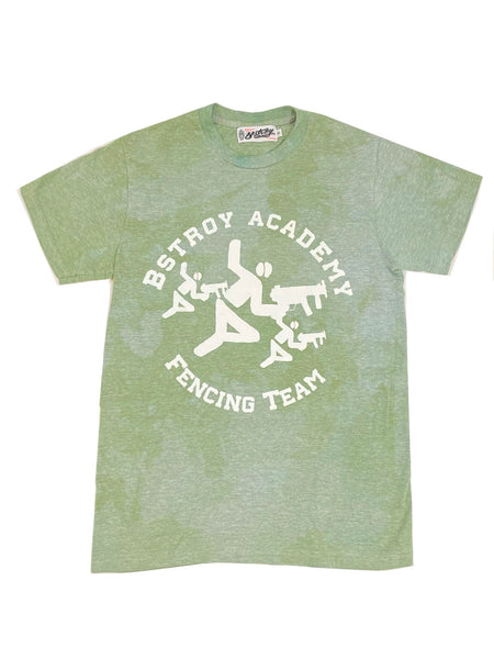 Bstroy Fencing Academy Heather Green Tee