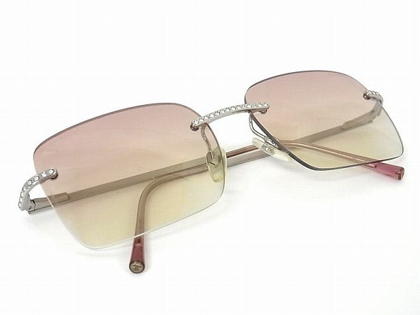 Chanel Rimless Rhinestone Sunglasses