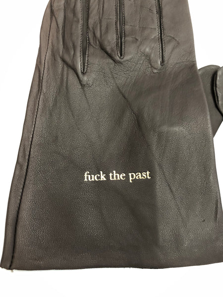 UNDERCOVER FW15 'FUCK THE FUTURE FUCK THE PAST' BROWN LEATHER GLOVES