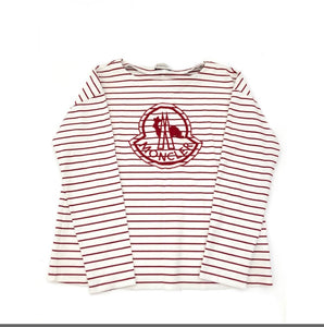 Moncler Embroidered Logo Striped T-Shirt