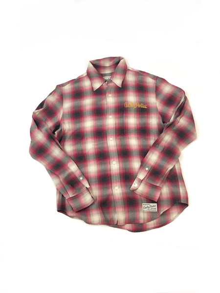 Wacko Maria Guilty Parties Red Shadow Plaid Flannel