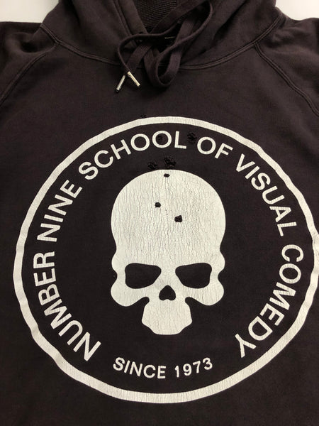 NUMBER (N)INE SCHOOL OF VISUAL COMEDY HOODIE-SIZE 4