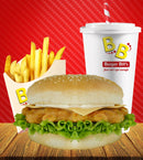 "Large Chicken Burger Meal with Large Drink ""PICKUP FROM BURGER BILLS VAITELE ONLY"" Burger Bills Restaurant Fugalei/Vaitele"